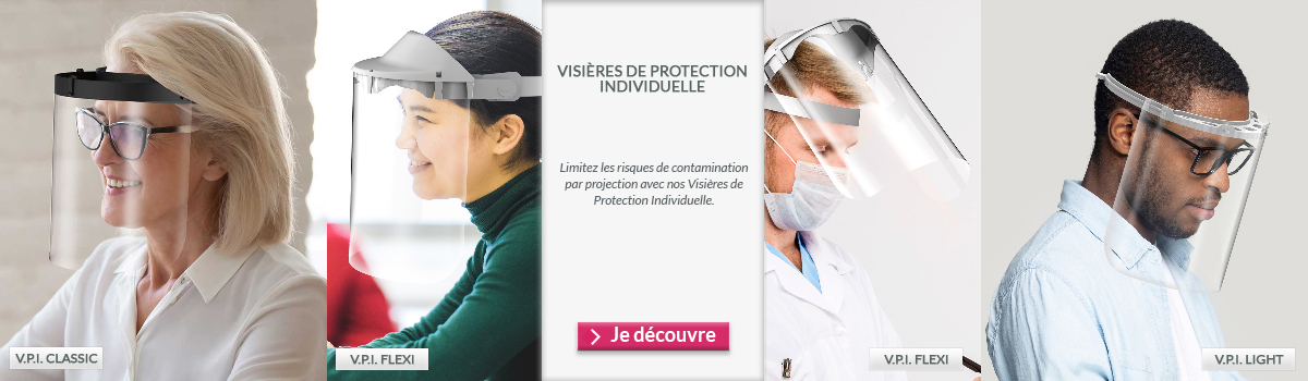 Visières de protection individuelle série CLASSIC, FLEXI, LIGHT